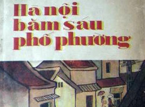 Bìa sách ấn phẩmHà Nội băm sáu phố phường.