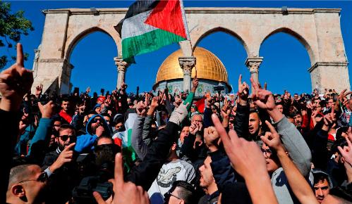 Một cuộc biểu tình ở Thành Cổ ngày 8/12 phản đối việc Trump công nhận Jerusalem là thủ đô Israel. Ảnh: AFP.