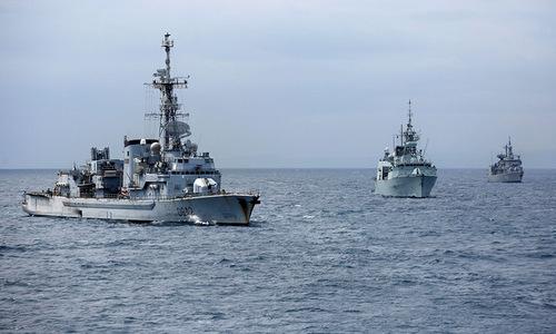 Tàu chiến NATO tham gia diễn tập chống ngầm hồi năm 2015. Ảnh: Sputnik.