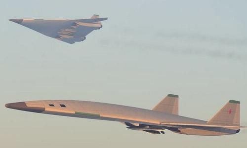 Một bản thiết kế mẫu của PAK-DA. Ảnh:Aviationist.