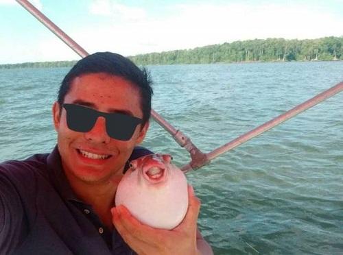 Nụ cười cúa cá nóc.