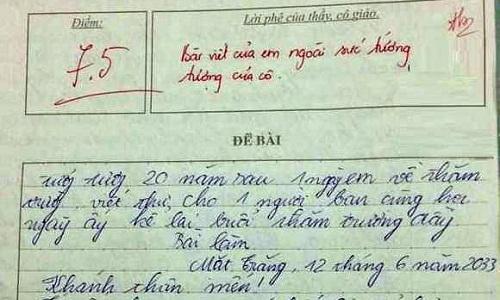 Giáo viên đau đầu với bài văn dự đoán tương lai của học trò