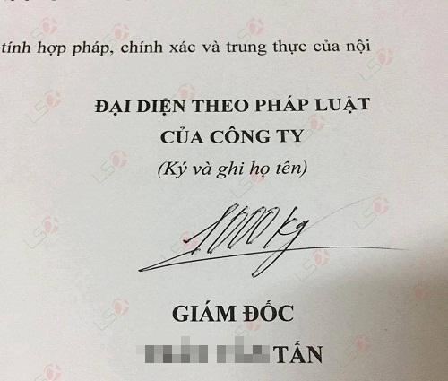 Chữ ký chất nhất Việt Nam.