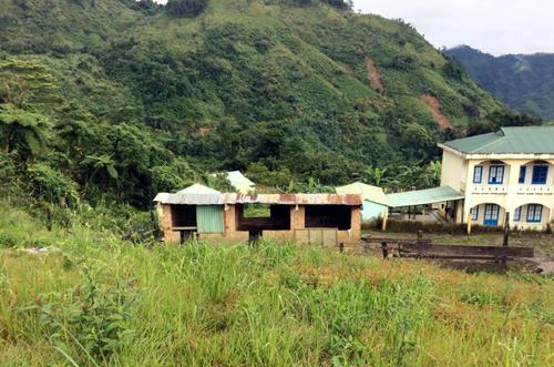 Khu đất thầy Điệp hiến 600 mét vuông xây dựng Trường trung học cơ sở Trà Cang. Ảnh:Đắc Thành.
