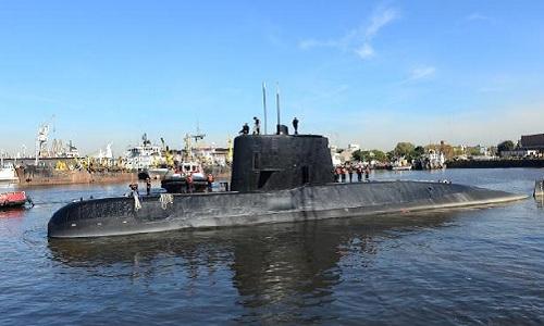 Tàu ngầm ARA San Juan trước khi bị mất tích. Ảnh: AFP.