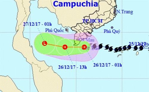 Bão Tembin đã suy yếu thành áp thấp nhiệt đới. Ảnh: