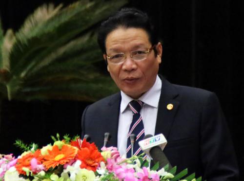 Thứ trưởng Bộ Thông tin - Truyền thông Hoàng Vĩnh Bảo đọc báo cáo tổng kết tình hình hoạt động báo chí trong năm qua. Ảnh: Thiên Ngôn