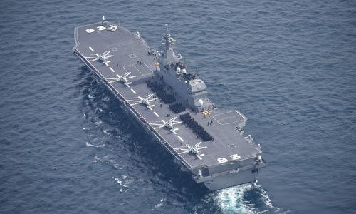 Tàu JS Izumo cần nhiều cải tiến nếu muốn vận hành tiêm kích F-35B. Ảnh: CIMSEC.