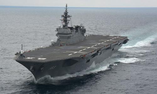 Tàu khu trục chở trực thăng JS Izumo của Nhật Bản. Ảnh: Wikipedia.
