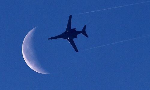 Một oanh tạc cơ B-1 của Mỹ hoạt động tại Syria. Ảnh: AFP.