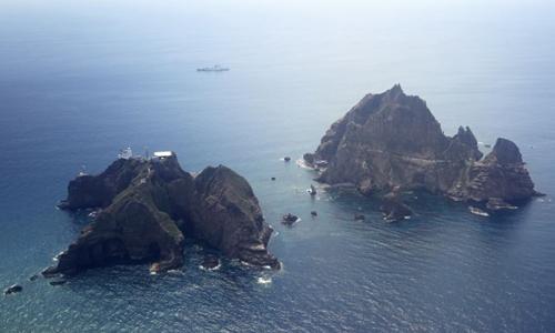 Đảo Dokdo/Takeshima. Ảnh: AP.