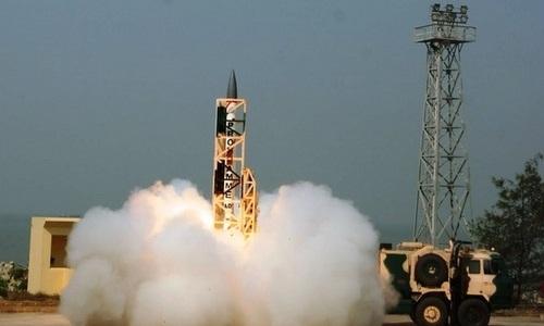 Một tên lửa đánh chặn siêu thanhcủa Ấn Độ. Ảnh:Examveda.