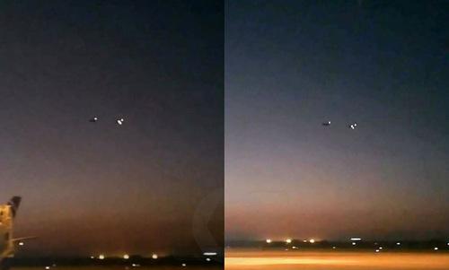 Hai chiếc Yak-130 trước khi xảy ra va chạm. Ảnh: Plane Spotters Bangladesh.