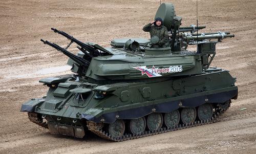 Pháo phòng không tự hànhZSU-23-4Shilkacủa quân đội Nga. Ảnh:Vitaly Kuzmin.