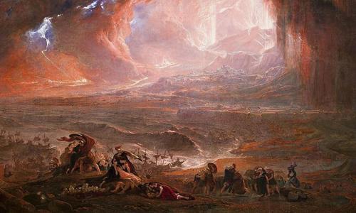 Sự sụp đổ của đế quốc La Mã là đề tài nghiên cứu hấp dẫn với nhiều nhà sử học. Ảnh:John Martin/Wikimedia Commons.