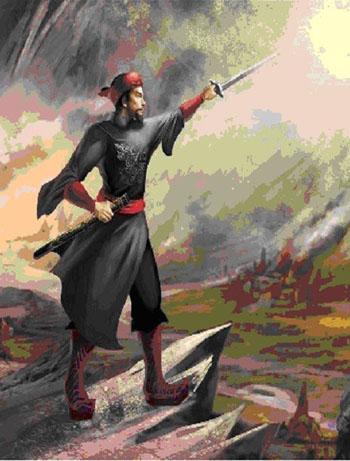 Tranh minh họa Bố Cái đại vương.