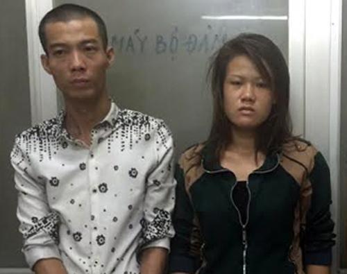 Linh và Cường bị bắt trong vụ cướp hồi tháng 3năm ngoái. Ảnh: Quốc. Thắng.