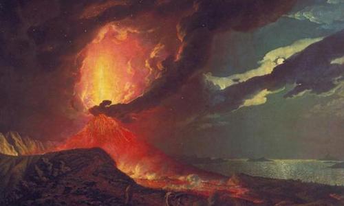 Hàng loạt những đợt phun trào núi lửa diễn ra làm thay đổi khí hậu. Ảnh: Ancient Origins.