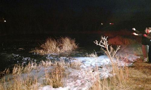 Khu vực hồ đóng băng nơi Jason gặp nạn ngày Giáng sinh. Ảnh: AP.