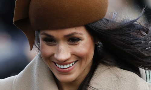 Hôn thê của Hoàng tử Harry cô Meghan Markle. Ảnh: AFP.