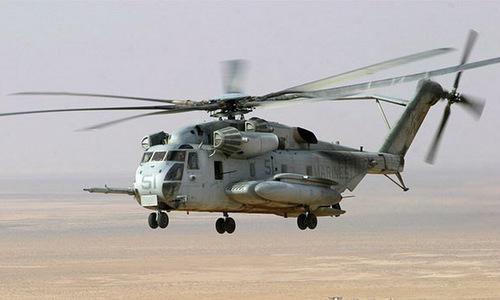 Trực thăng Mỹ hoạt động tại Syria. Ảnh: USMC.