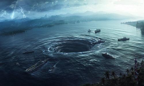 Xoáy nước kép hút sinh vật biển và cuốn chúng đi xa. Ảnh minh họa: Wordpress.
