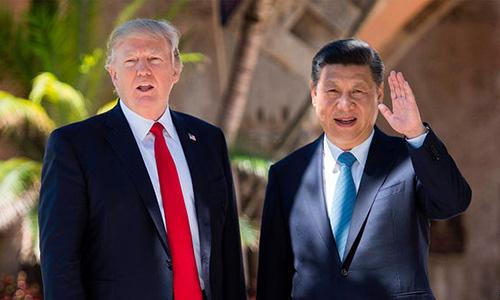 Tổng thống Mỹ Trump, trái và Chủ tịch Trung Quốc Tâp Cận Bình. Ảnh: AFP.