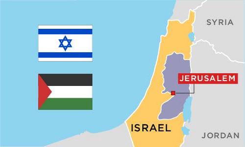 Nửa thế kỷ tranh chấp chủ quyền ở thánh địa Jerusalem. Bấm vào hình để xem chi tiết.