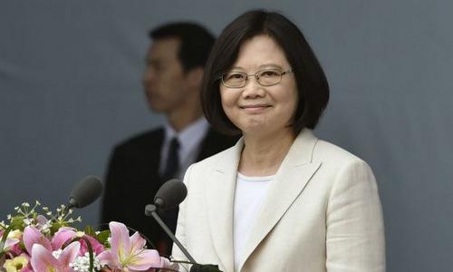 Người đứng đầu chính quyền Đài Loan Thái Anh Văn. Ảnh: AFP.