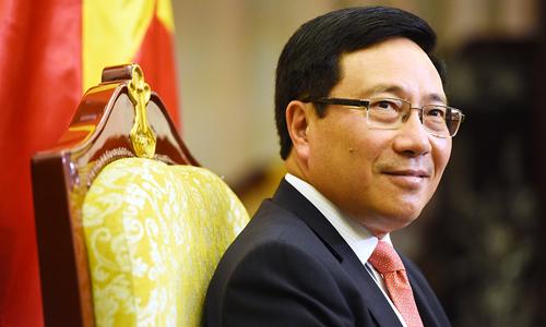 Phó thủ tướng, Bộ trưởng Ngoại giao Phạm Bình Minh. Ảnh: Giang Huy.