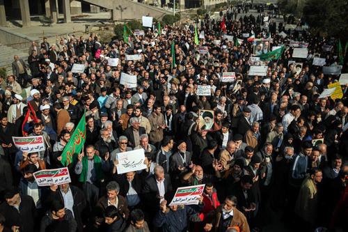 Phong trào biểu tình ở Iran bùng phát từ thứ năm tuần trước. Ảnh: AFP.