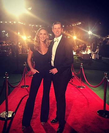 Eric Trump và vợ. Ảnh: Instagram