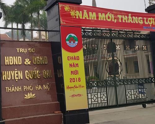 Công việc điều hành tại UBND huyện Quốc Oai hiện được giao cho Phó chủ tịch Thường trực Đỗ Lai Luật. Ảnh: QL.