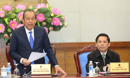 Phó thủ tướng Trương Hoà Bình đề nghị xử lý nghiêm lái xe gây tai nạn làm 5 người chết ở Hà Giang. Ảnh: HT