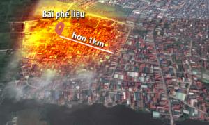 Sức ảnh hưởng rộng hơn một km sau vụ nổ kho phế liệu