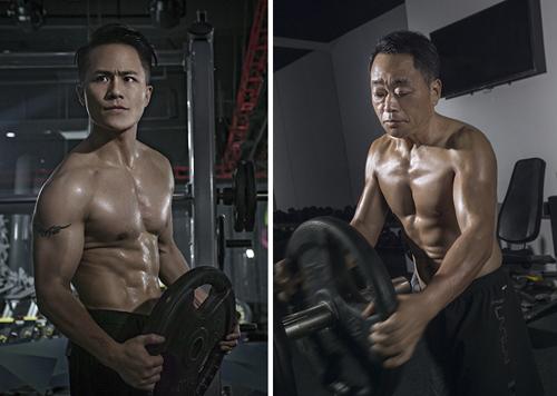Jesse (trái) và bố sau khi giảm cân thành công. Ảnh: Weibo.