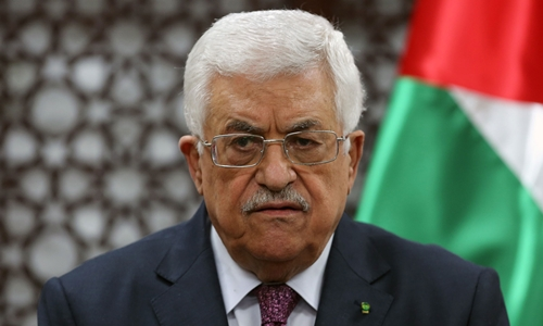 Tổng thống PalestineNabil Abu Rudeina. Ảnh: AFP.