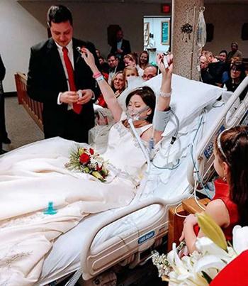 Lễ cưới của Heather diễn ra tại bệnh viện St. Francis, thành phố Hartford, bang Connecticut, Mỹ