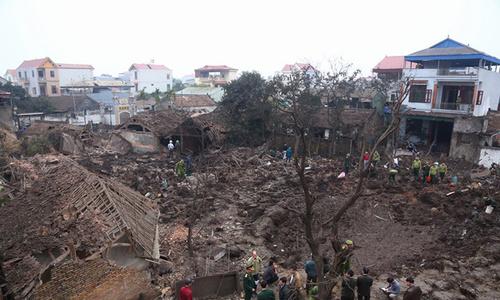 Nổ kho phế liệu chứa đầu đạn ở Bắc Ninh, hai người chết
