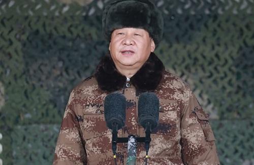 Ông Tập phát biểu trước binh sĩ tại Chiến lược khu Trung tâm. Ảnh: Xinhua.