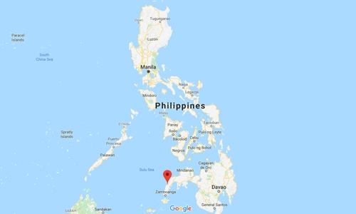 Vị trí thị trấn Sirawai, Philippines. Đồ họa: Google Maps.