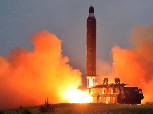 Một vụ phóng tên lửa của Triều Tiên. Ảnh: