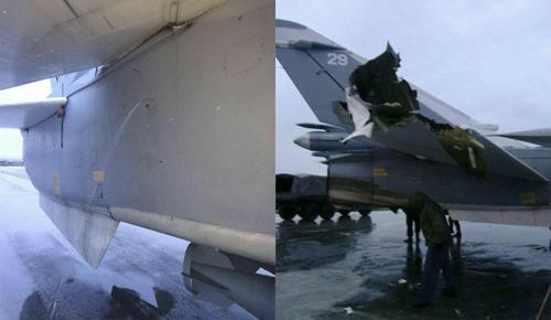 Hình ảnh cường kích Su-24 bị hư hỏng do Saponkov đăng trên mạng xã hội. Ảnh: Saponkov.