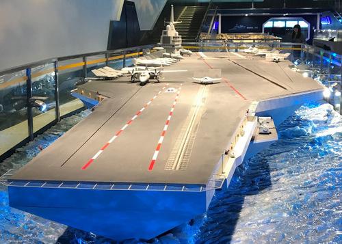 Mô hình tàu sân bay Type-003 do Trung Quốc công bố hồi giữa năm 2017. Ảnh: Livejournal.