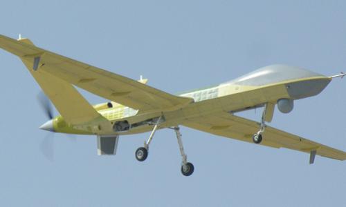 UAVWing Loong II của Trung Quốc trong một chuyến bay thử nghiệm. Ảnh: Xinhua.