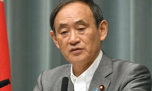 Chánh văn phòng Nội các Nhật Bản Yoshihide Suga. Ảnh: Kyodo.
