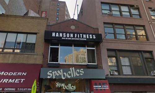 Bên ngoài một phòng gym của Hanson Fitness. Ảnh: Google Street View.