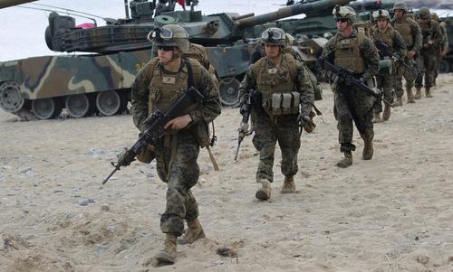 Lính Mỹ triển khai tại Hàn Quốc. Ảnh: IB Times.