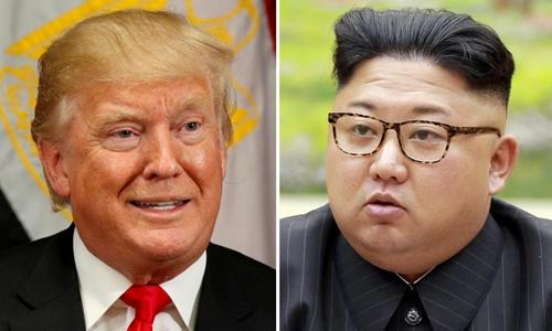 Tổng thống Mỹ Donald Trump (trái) và nhà lãnh đạo Triều Tiên Kim Jong-un. Ảnh: Reuters/KCNA.