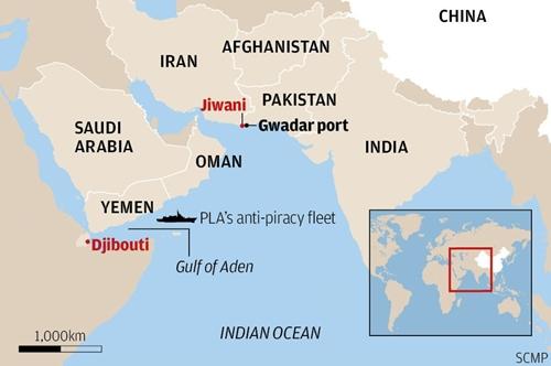 Vị trí cảng Gwadar, Pakistan. Đồ họa: SCMP.